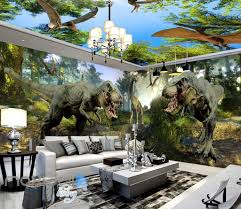 3d jurassic forest t rex fight wall murals wallpaper paper art 3d jurassic forest t rex fight wall murals wallpaper paper art decor idcqw 000376