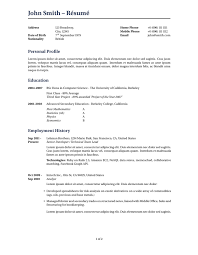 Sample Resume Curriculum Vitae by Latex Templates Curricula Vitae Résumés
