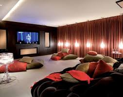 home theater interior amazing home theater idea with red walls techethe com