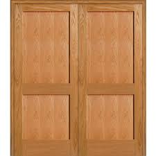mmi door 61 5 in x 81 75 in unfinished red oak 2 panel flat