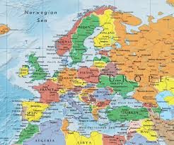 map of earope europe european continent political map a learning family and of