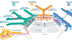 Atlanta Airport Map Delta by Where To Eat At O U0027hare International Airport Ord Eater Chicago