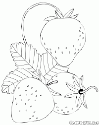 coloring page blueberries