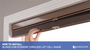 how to install inside mount economy cellular shades with cordless