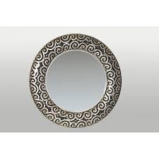 home decor large round capiz shell mirror