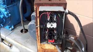 multi stage compressors u0026 wiring a single phase motor starter