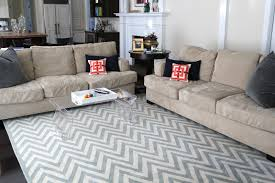 Pottery Barn Zig Zag Rug Imperfect Family Room Update