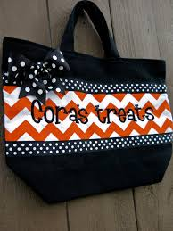 personalized trick or treat bags personalized trick or treat bag by itshanmade on etsy kid