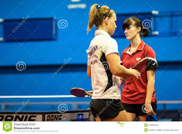 table tennis games tournament table tennis game between girls editorial photo image of