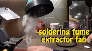 exhaust fan for welding shop how to build a diy soldering fume and smoke extractor fan youtube