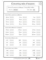 measurement conversion worksheets 2 6 5 practice worksheets w