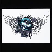 new 1pc product blue eye tattoo temporary tattoo hb189 fake