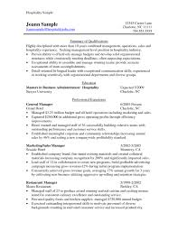 sle resume format for hotel industry 100 images sle resume in