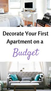 decorate how to decorate your first apartment on a budget uniquely mickie