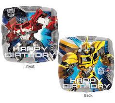 optimus prime birthday party transformers balloon 17 foil mylar optimus prime happy birthday