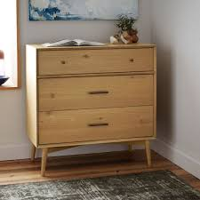 Modern Bedroom Dressers And Chests Inspired By American Modern Design The Mid Century 3 Drawer Chest