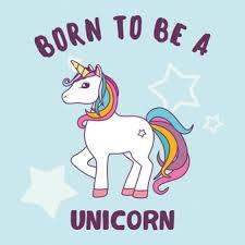 unicorn background design vector free download