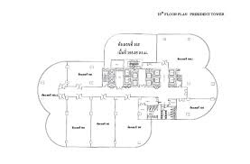 office tower floor plan president tower office space for rent in bangkok