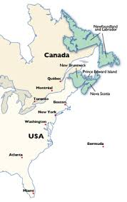 map of eastern usa and canada map eastern canada provinces major tourist attractions maps