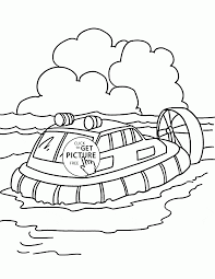 passenger hovercraft coloring page for kids transportation