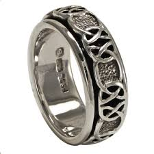 worry ring silver celtic knot spinner worry ring