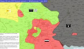 Syria Conflict Map by Agathocle De Syracuse 4 Scenarios For Aleppo On 30 June 2015 2