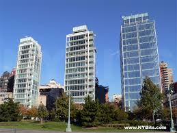 three building three glass buildings nybits
