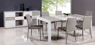 grey kitchen table and chairs gina dining table 5pc set in white grey by chintaly