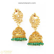 earrings pictures diamond earrings in 22k gold totaram jewelers totaram