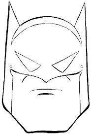 coloring cute batman mask drawing diy birthday coloring