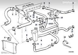 bmw 325i parts catalog cooling system water hoses bmw 3 e36 325i m50 bmw parts catalog