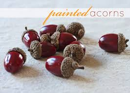 painted acorns inspired by charm