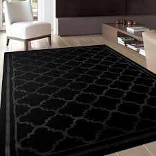 Modern Contemporary Rugs Trellis Contemporary Modern Design Black Area Rug 5 3 X 7 3 5