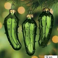 kurt adler glass pickle ornament