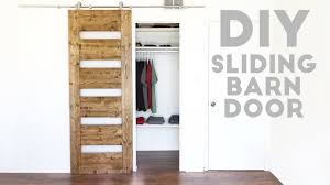 Half Barn Door by Diy Mid Century Modern Sliding Barn Door Modern Builds Ep 54