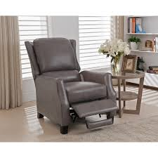 Recliner Chair Staten Grey Premium Top Grain Leather Recliner Chair Free Shipping