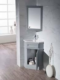 Bathroom Vanity Medicine Cabinet stufurhome hampton grey 27 inch corner bathroom vanity with