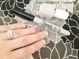 stripesdots text cool designs to draw with sharpie diy nail marker