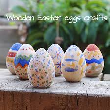 painted wooden easter eggs paint your own wooden easter eggs eco toys