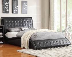button tuck headboard tully black queen bed with button tufting headboard footboard