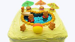 swimming pool birthday cake youtube