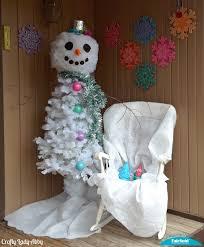 snowman christmas tree diy whimsical snowman christmas tree