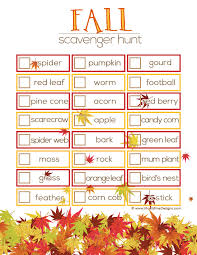 fall scavenger hunt ideas free printable thanksgiving and autumn