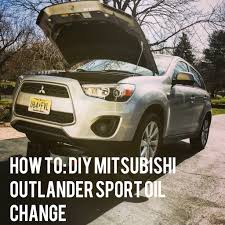 how to change the oil on a mitsubishi outlander sport 2015