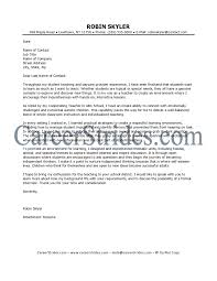 inspiration resume cover letter teacher examples in how to write a