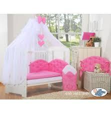 chambres bébé pas cher parure lit bébé pas cher framboise 393 5pcs pour fille et garçon