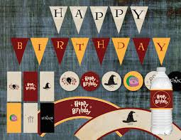 Harry Potter Birthday Decorations Banner Cupcake Toppers