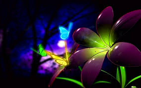 backgrounds beautiful animated d flower and butterfly wal hd