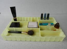 Makeup Vanity Tray Large Adjustable Vintage Makeup Tray Plastic Cosmetic Tray