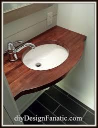diy design fanatic a custom wood countertop for the world u0027s